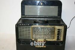 Vintage 1940's Zenith Trans-Oceanic Shortwave Radio T600 With Books Working