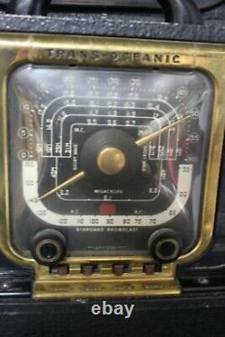 Vintage 1940s Zenith Trans Oceanic 8g005tz1 Magnet Cabinet Map Radio Ham WORKS