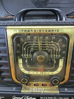 Vintage 1946/47 Zenith Trans Oceanic Shortwave Tube Radio Model 8G005 LITES UP