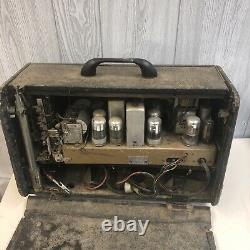 Vintage 1946 ZENITH TRANS-OCEANIC Tube Radio! #8-G-005YT Parts Only
