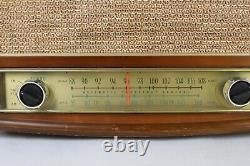 Vintage 1950's Zenith Model S-52224 Long Distance AM/FM Tube Radio USA Works