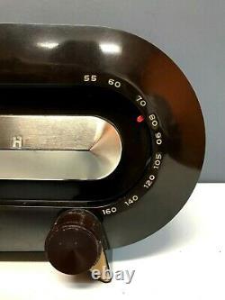 Vintage 1950s TUBE Art Deco Zenith Consol-tone Bakelite Radio WORKS