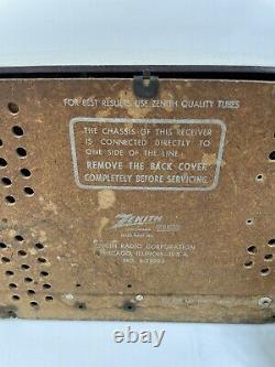 Vintage 1950s Zenith AM-FM Tube Radio No. S-22922 Read Description