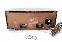 Vintage 1950s Zenith R519R Clock Tube Radio Eames Era Design Working NICE