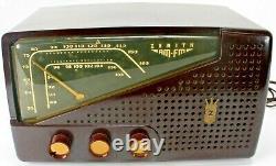 Vintage 1950s Zenith R721 Art Deco Bakelite Tube Radio Works
