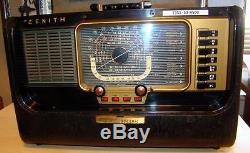 Vintage 1953 Zenith Transoceanic Tube Type Multiband Radio H500 Nice Condition