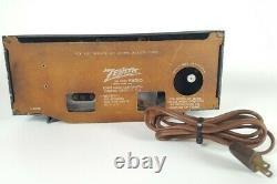 Vintage 1955 Zenith Model R521G Radio Gray Plastic Tube AM Radio Working