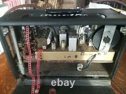 Vintage 1955 Zenith Trans-Oceanic Model T600 Radio Working! Looks Great