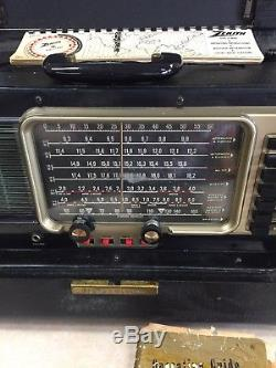 Vintage 1956 Zenith Trans Oceanic Wave Magnet Tube Radio Model A600