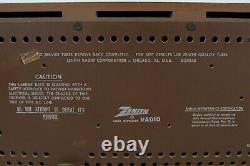 Vintage 1960's Zenith Model S-58040 Wood Body AM/FM Tube Radio USA Works
