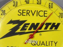 Vintage 1960s Zenith radio TV Replacement Parts Tubes Advertising Thermometer