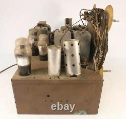 Vintage 8 Tube Zenith Black Dial Radio Chassis AM/SW Music USA Parts &/or Repair