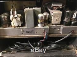 Vintage Antique Serviced Zenith Long Distance AM Tube Radio 6G001Y World Wide