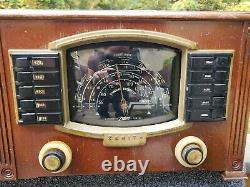 Vintage Art Deco Wood ZENITH Tube Radio Model 7S634R AM Shortwave