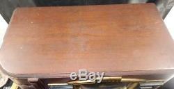 Vintage Art Deco Wood Zenith Tube Radio Model 7S633 AM Shortwave