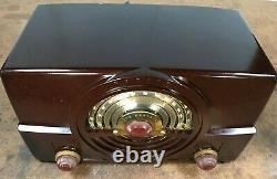 Vintage Bakelite ZENITH TONE REGISTER AM/FM Tube Radio, Model 7H920, Works Great