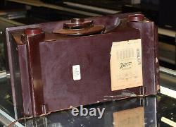 Vintage Deco Bakelite Plastic Zenith Vacuum Tube Radio R-615 Works