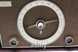 Vintage HiFi Zenith, High Fidelity AM/ FM Tube Radio S-50682 Restored, Working
