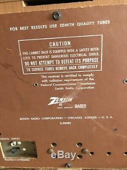 Vintage HiFi Zenith, High Fidelity AM/ FM Tube radio S-50682 FAST SHIPPING