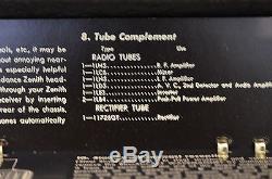 Vintage Mid-century Zenith 8g005 Trans-oceanic Tube Short-wave Radio Receiver