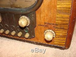 Vintage Original Zenith 5S319 Racetrack ANTIQUE OLD WOOD CABINET WORKING CHASSIS