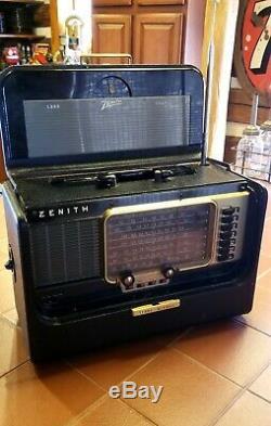 Vintage Original Zenith Trans Oceanic Multiband Short Wave Radio- Works