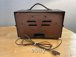 Vintage Rare 1954 Zenith AM Tube Radio Model R615 Working FREE SHIPPING