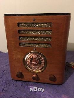 Vintage Restored WWII era Crosley Shortwave Tube Ham Radio 80828