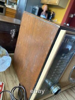 Vintage Retro 1950s Zenith Tube Radio S-53555 High Fidelity COOL RARE