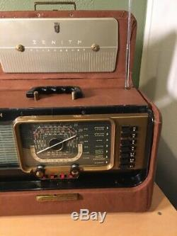 Vintage Serviced Recovered Zenith Trans-Oceanic Tube Radio H500 World Wide