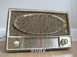 Vintage The Super Sapphire ZENITH AM/FM/AFC 7 Tube Radio C725L retro WORKS