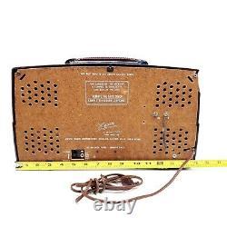 Vintage Tube Radio Zenith T825 Portable Bakelite Mid Century Modern Phono Input