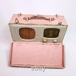 Vintage Tube Radio Zenith Wave Magnet Pink 6G501M Universal Portable AM Works