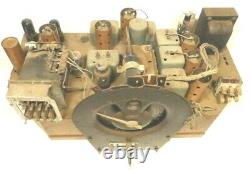 Vintage ZENITH 12-S-370 SHUTTERDIAL/ ch1206 Untested CHASSIS w TUBES & 3 FACES