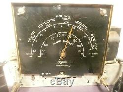 Vintage ZENITH 7S682 RADIO part Untested CHASSIS with ALL 7 TUBES & SIDE UNITS