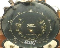 Vintage ZENITH 7-J-259 SHUTTERDIAL/ ch 5907 Untested CHASSIS w TUBES & 3 FACES