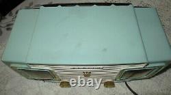 Vintage ZENITH A515F CLOCK RADIO NICE CONDITION! Seafoam Green