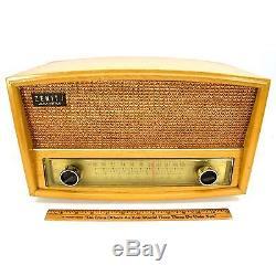 Vintage ZENITH AM-FM LONG DISTANCE TUBE RADIO No. 730 Mid Century c. 1959 WORKS