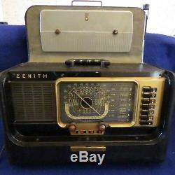 Vintage ZENITH H500 WAVEMAGNET TRANS-OCEANIC Portable RADIO Good WORKING COND