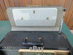 Vintage ZENITH Model H500 Trans Oceanic Short Wave Radio Works