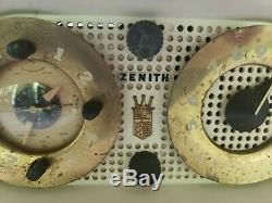Vintage ZENITH OWL EYES Tube Radio model 5G03 works