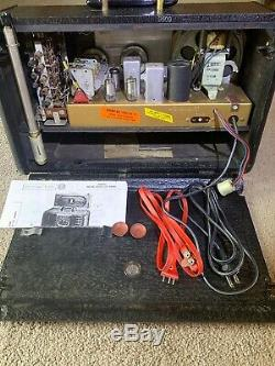 Vintage ZENITH TRANSOCEANIC G500 World Band Ham Tube Portable Radio Restored