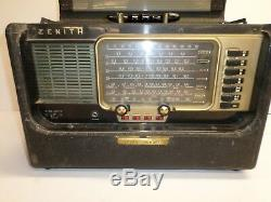 Vintage ZENITH TRANS-OCEANIC RADIO Marked S-4273 AM BAND WORKS