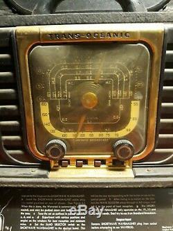 Vintage ZENITH Trans-Oceanic 8G005TZ1 SHORTWAVE RADIO