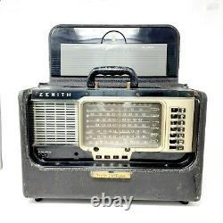 Vintage ZENITH Trans Oceanic Y600 6T40 Wave Magnet Tube Radio 1954 Shortwave