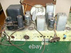 Vintage ZENITH Tube Radio Zenith model 7S529 ORIGINAL TUBE CHASSIS