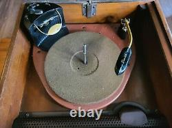Vintage Zenith 5R086 Tube Radio + Phonograph Tube Glows, See Photos