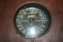 Vintage Zenith 5 S 237 Long Distance Cube Tube Radio- Parts or Repair- Free Ship