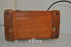 Vintage Zenith 6D525 Walnut Toaster Cabinet Tube Radio