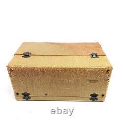 Vintage Zenith 6G501M Tube Radio WaveMagnet Universal Portable AM Suitcase Works